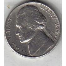 Estados Unidos Moneda De 5 Cents Año 1974 D !!