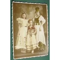 Antigua Fotografia Moda Vestidos Damas S/data Niñas Infantil