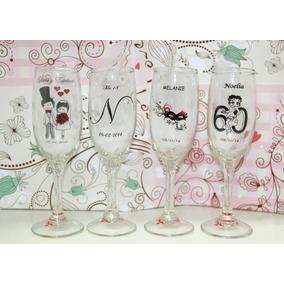 Souvenirs Copas Champagne Vidrio Tazas Mates Casamiento 15