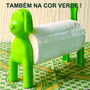 Porta Rolo Papel Toalha Guardanapo Mesa Cachorro Verde Plast
