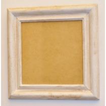 Porta Retrato 20x20 Cm Marco Rustico Blanco Gastado