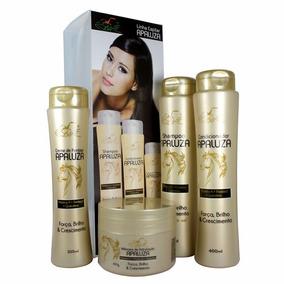 Kit Shampoo Condicionador Máscara Creme De Pentear Apaluza