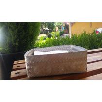 Caja Para Servilletas De Aluminio Tejido