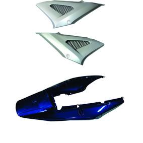 Rabeta+lateral Cbx250 Twister Azul 2001/02 Modelo 2008
