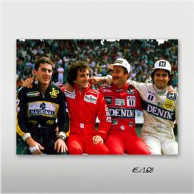 Poster Ayrton Senna 70x50cm F1 Prost Mansel Nelson Piquet