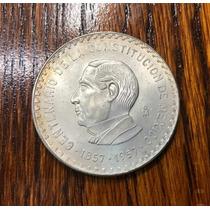 $10 Juarez Centenario De La Constitución 1957