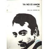 * Partitura Para Piano - Zamba - Ya No Es Amor