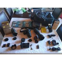 Kit Completo Profissional Nikon D5100-5 Lentes-flash-etc