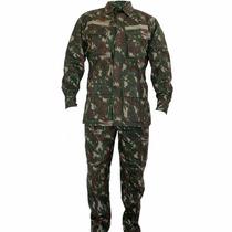 Farda Camuflada Do Exército Cedro - Ripstop Ou Lisa