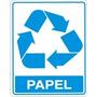 Placas De Sinalizacao Tipo De Lixo Papel 15x20 Cm