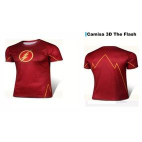 Camisa 3d Flash, Marvel Super Herois