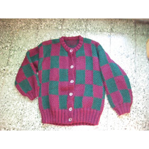Sweter O Sacon De Lana Tejido A Mano 100% Artesanal
