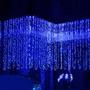 Luces Navideñas Tipo Cortina/cascada.300 Leds 3x3m. Azul