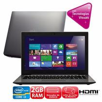 Notebook Intel Core I3 2gb 500hd Dvd Hdmi Webcam Cce T325
