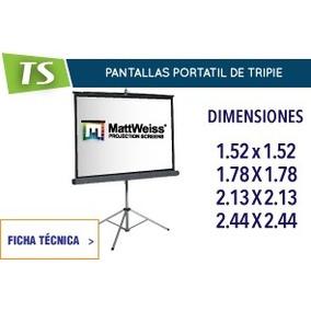 Pantalla De Proyección De Tripie 244x244 Nuevas Con Garantia