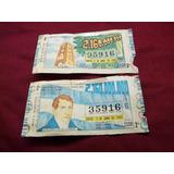 Antiguos Billetes Loteria 1983 Provincia En La Plata Tolosa
