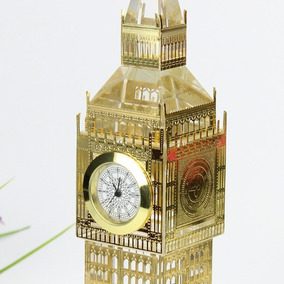 Reloj Bigben Londres Real De Cristal Con Luces 18cm