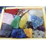Coleção Kit Pedras Preciosas Brasileiras Brutas Naturais 4cm