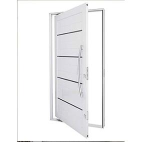 Porta Pivotante Frisada 1200x2200 Com Alisar E 3º Fechadura