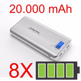 Bateria Portátil Pineg Power Bank Pineng 20000mah Com Visor