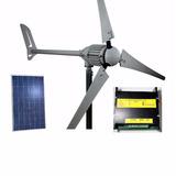 Kit Hybrido; Eolico,solar1kw+controlador +2painel Solar150ww