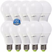 Lampada Led 7w 10 Unidades Bulbo Bivolt E27 90% De Economia