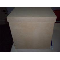 Cajas Souvenir Fibrofacil Cubo Madera 30 X 30 Cm Artesania