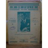 9 De Julio Tango Milonga. Jose L. Padula. Partitura