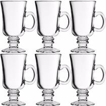 Taças De Vidro Xicara Para Café Capuccino 120 Ml -jogo 6 Pçs