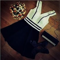 Vestido Feminino Curto Bicolor Balada Panicat Preço + Barato