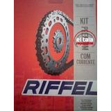 Kit Corona Piñon Riffel + Cadena Choho Dorada Fz 16 Yamaha