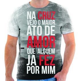 Camisa, Camiseta Gospel Moda Evangélica Frases Cristã 80