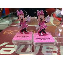 Caixinha Acrilico 3d Minnie Rosa Ou Vermelha