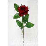 Galho Rosa Artificial Aberta Várias Cores Flores Artificiais