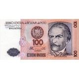 Billete 100 Intis Perú 1987 E10/10 Oferta