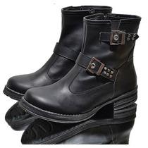 Bota Botita Corta Calzado De Vestir Bajo Zapato Dama Hebilla