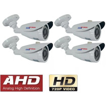 Kit 4 Camera Infra Ahd 1.0mp 720p Luxvision Lente 3,6m 25mt
