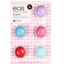 Eos Lip Balm Protetor Labial Hidratante Kit Com 5 Unidades