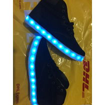 Tenis Led Luminosos Iluminados Recargables Usb 7 Colores Rgb