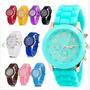 Reloj Relojes Moda Mujer Marca Geneva 2017 Varios Colores