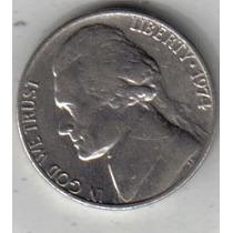 Estados Unidos Moneda De 5 Cents Año 1974 !!