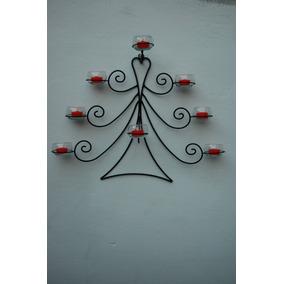 candelabro velas arbol de navidad para pared