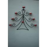 Candelabro 8 Velas Arbol De Navidad Para Pared
