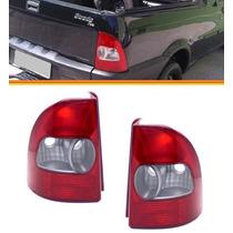 2 Lanterna Fiat Strada Fire 2003 2004 2005 2006 Bicolor Par