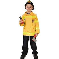 Disfraz Para Niño Childs Bombero De Vestuario (tamaño Jóven