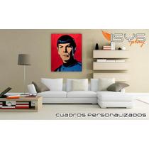 Cuadro En Tela Tipo Oleo De Spock De Star Trek