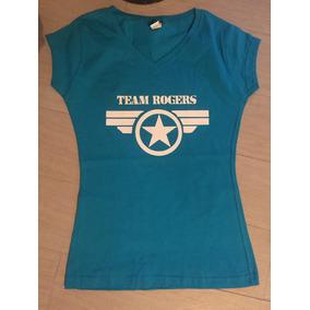 Playera Civil War Team Rogers Capitan America