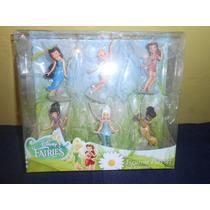 Set De 6 Figuras Tinkerbell Original De Disney Hadas
