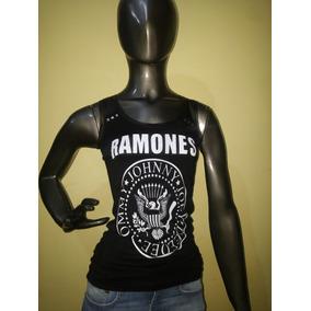 Musculosa Ramones Guns Roses Kiss Metallica - Bandas De Rock