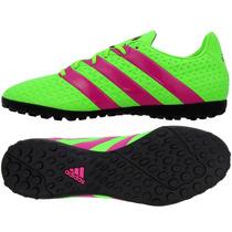 Zapatos Para Futbol Soccer Pasto Sintetico 16.4 Turf Adidas